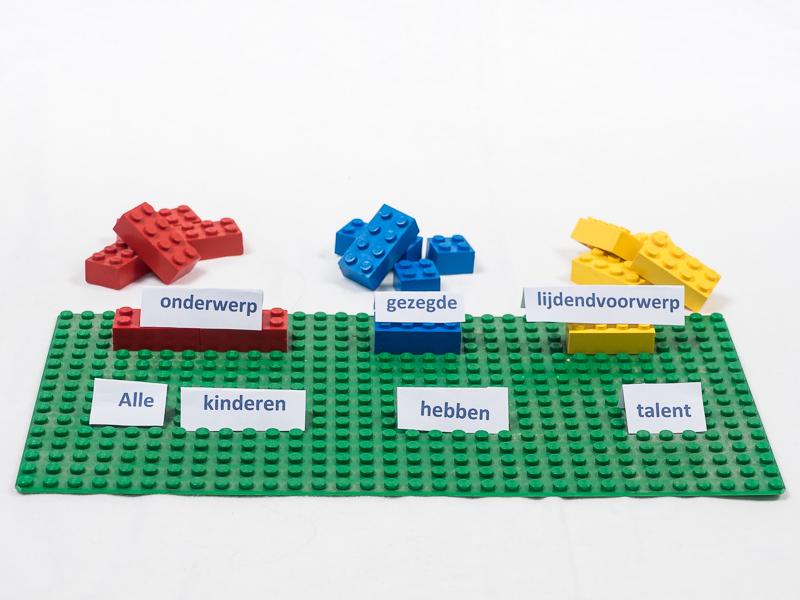 Zinsontleding met lego